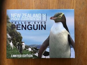 2011 New Zealand proof 6 coin set including silver Penguin