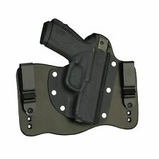 FoxX Leather & Kydex IWB Hybrid Holster Bersa BP9cc Black Right Tuckable Conceal