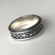CZ, 925 Sterling Silver Wave Eternity Thick Solid Design Wedding Ring 9mm Size10