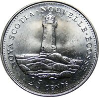 1992 Canada 125th Nova Scotia 25 Cents Gem BU UNC Quarter!!