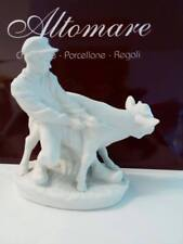 ROYAL COPENHAGEN FIGURINE Ragazzo con mucca 074 bisquit bianco
