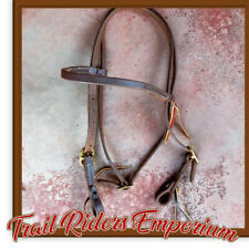 Western Bridle LEATHER American Made Armish Quality Bridle Brown Leather FULL