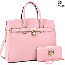 New Womens Handbags Faux Leather Satchel Tote Shoulder Bag Large Purse Briefcase
