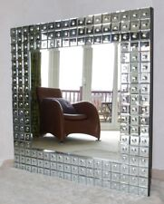 Brand New in Box Large Square Mosaic Bulls Eye Mirror
