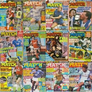 Match Football Magazine Front Page Cover Retro Picture – Various Teams / Players