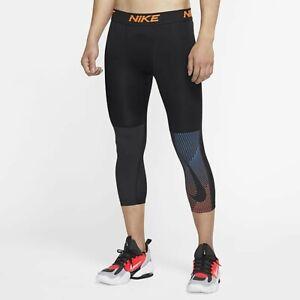 Nike Men's 3/4 Black Training Tights- M **Genuine**