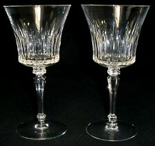 "TIFFIN crystal MELISSA 17687 pattern WATER GOBLET or GLASS 7"" SET of TWO (2)"