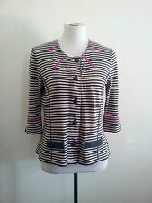 Striking Stripes! Marilyn Seyb size 14 grey striped knit in excellent condition