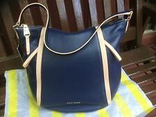 $298 NWT COLE HAAN BLAZER VACHETTA BLUE NORTH SOUTH LEATHER HOBO SHOULDER BAG