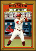 Joey Votto 2021 Topps Heritage In Action 5x7 Gold Cincinnati Reds /10