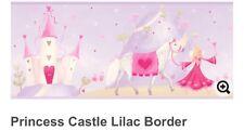 Princess Castle Prepasted Wallpaper Border in Lavender 3 Rolls Girls Room Lilac