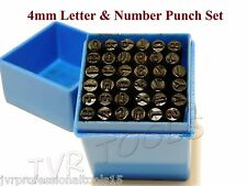 36 Pc Letter & Number Stamping Set A-Z, 0-9 Punches Metal Plastic Leather Wood