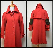 VTG FAIRBROOKE/Alvin's True Red Wool Melton Coat Overcoat Trenchcoat Size 6  EUC