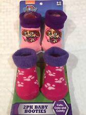 New Paw Patrol Baby 2 pk. Booties / Socks Pink Girls 0-12 months Infant Newborn