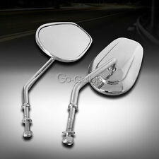 Chrome Rearview Mirrors Fit Harley Electra Road Street Glide Road King Touring