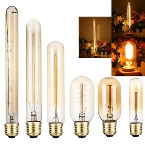Light Filament E27 4/6/12pcs T45 T10 T300 Edison Decorative Industrial Dimmable