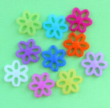 25 Daisy Connector Beads Acrylic Assorted Bright and Fun 60% Off! - K224