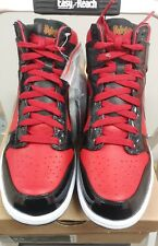 DS Nike Dunk High Premium DJ AM FIRE RED COOL GREY BLACK WHITE 323955-600 9.5***