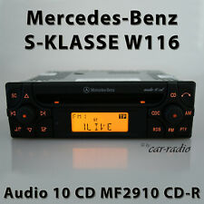 Original Mercedes Audio 10 CD MF2910 CD-R W116 Radio S-Klasse V116 RDS Autoradio