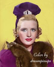 PRISCILLA LANE 1940 Hollywood Color Portrait FELT CHAPEAU