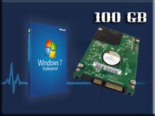 Hard Drive 100GB Windows 7 Laptop HP Compaq CQ32 CQ42 CQ56 CQ72 G42 G62 G72.