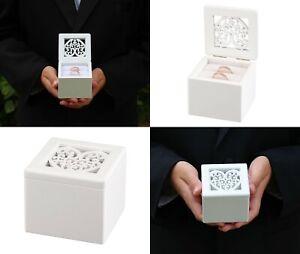 Wedding Ring Box Wooden Bearer Pillow Alternatives Ceremony Supplies Decorations