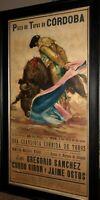 Plaza de Toros de Cordoba Poster Framed Bullfight Matador Manolete 1958 J.Revs
