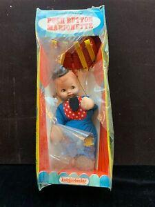 Super Rare 1960s KNICKERBOCKER  Push-Button Marionette in box! TOMMY TRAMP 3005