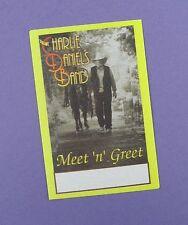 The Charlie Daniels Band - Original Meet 'n' Greet Tour Pass   - Unused Stock !
