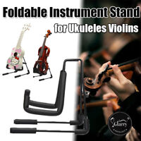 Portable Electric Acoustic Bass Guitar Stand GIG Floor Rack Holder