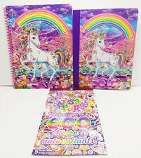 Lisa Frank Spiral & Composition Notebook Glitter Unicorn 600 Plus Stickers BN