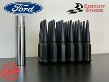 14X1.50 BLACK SPIKE LUG NUTS 32 PIECES FOR 8 LUG FORD F-250, F-350