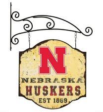 Nebraska Cornhuskers Hanging Sign Metal Double Sided Cottage