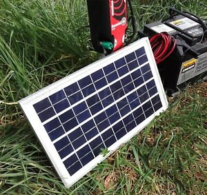 Weatherproof Solar Panel 12V Battery Charger Electric Fence Horse Energizer