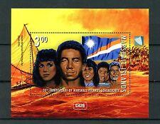Islas Marshall 2016 estampillada sin montar o nunca montada soberanía 30th Ann 1v m/s independencia banderas SELLOS