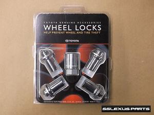 Lexus GX470 GX460 (2003-2018) OEM Genuine WHEEL LOCKS LOCK SET 00276-00901