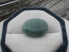 18 Carat Natural Brazilian Emerald Oval Faceted Loose Gem 21 x 11mm