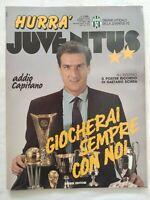 HURRA' JUVENTUS N. 10 OTTOBRE 1989 + POSTER GAETANO SCIREA MORTE ADDIO CAPITANO