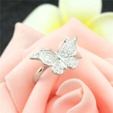 925 Solid Sterling Silver Plated Women/Men New Fashion Ring Gift Size Open Hj052