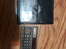 Mini Credit Card/Wallet sized pocket calculator with sleeve (solar powered)