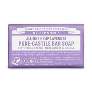 💚 Dr. Bronner Organic Lavander Pure-Castile Bar Soap 140g