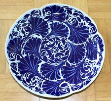 ROSENTHAL SCHALE blau Blüten Keramik handgemalt studio-line 70er Jahre 25 cm