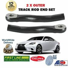 FOR LEXUS IS250 IS300H HYBRID 2013-> NEW 2 X OUTER STEERING TIE TRACK ROD END
