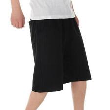 Hombre Pantalones Cortos Holgado Talla Grande Color Sólido Atletismo Cordones De