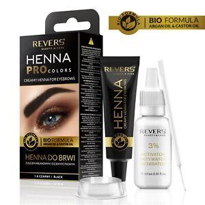 Henna für Augenbrauen ProClors Cremiges Augenbrauenfarbe mit Arganöl & Rizinusöl