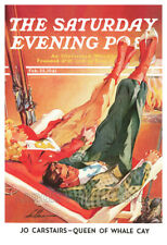 20x30 North Shore Line Ski Jumping 1928 Classic Vintage Style Ski Sport Poster