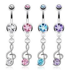 Music Surgical Steel Body Piercing Jewellery