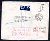 Hungary 1923 Airmail Legiposta registered cover Budapest to London WS11846