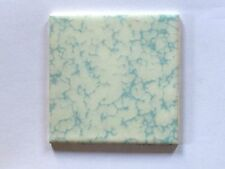 "(Z-832) 1pc NOS Retro Forum Sky Blue Pattern 4 1/4"" Ceramic Wall Tile Glossy"