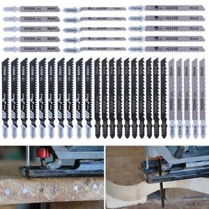 40PCS T Shank Jig Saw Blades Set Wood Metal Cutting Suit For Bosch Makita Dewalt